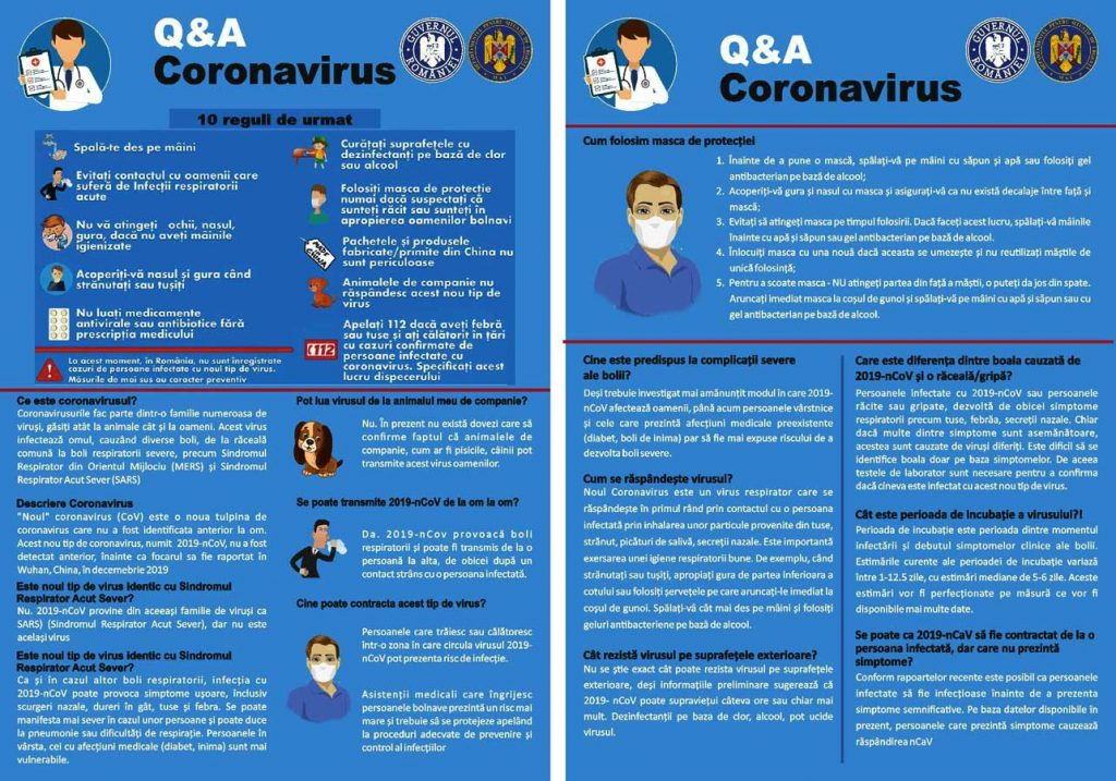 Ce reguli trebuie să urmăm pentru a evita înbolnavirea cu Coronavirus?